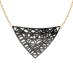 Motherboard pendant necklace for $116.00 - eco modern jewelry