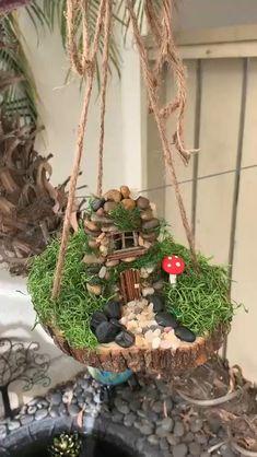 Fairy Garden Pots, Fairy Garden Furniture, Fairy Garden Houses, Fairy House Crafts, Garden Gnomes, Garden Art, Fairy Crafts, Garden Crafts, Garden Projects