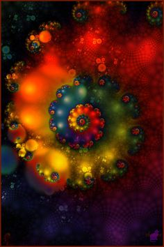 I feel like I am being sucked into a color vortex... WOW!!!!! fractal via Art 42