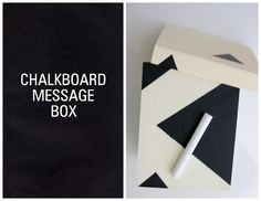 Chalkboard Message Box using Chalkboard acrylic paint. Full Step-by-Step Tutorial.
