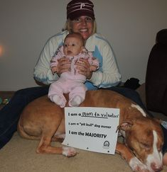 """Pit Bull Dogs Bridget, Summer, and Vinny, Newark, DE I am a mom and a volunteer I am a """"pit bull"""" dog owner I am the majority - I Love Dogs, Puppy Love, Pitbull Facts, Nanny Dog, Bull Dog, Pit Bull Love, Pitbull Terrier, Dog Care, Dog Owners"""