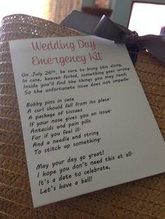 bridal survival kit poem | Gifts for others! | Pinterest | Survival ...