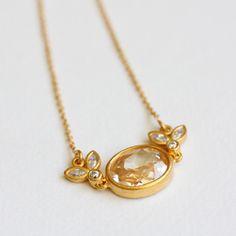 Julie Sandlau necklace ジュリー・サンドロウ キュービックジルコニアネックレス