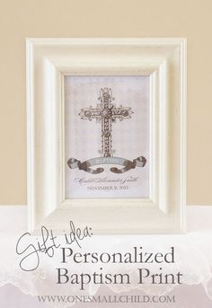 Christening Gifts for Girls and Boys: Personalized Baptism Print Christening Gifts For Girls, November, Communion, Thoughtful Gifts, Showers, Celebrations, Children, Boys, Frame