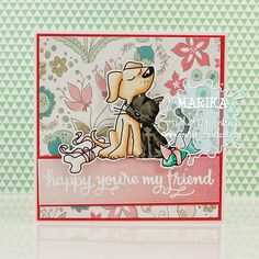 Best Friends card using digital stamp image