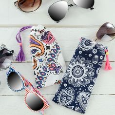 DIY Bandana Sunglass Case - easy new sew glasses pouch tutorial - make your own sunglass case at home