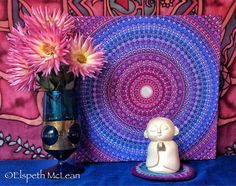 Mandala from the heart by Elspeth McLean