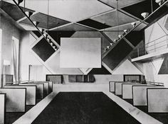The cinema and ballroom of the Cafe Aubette designed by Theo van Doesburg…