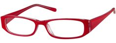Women's Red 3386 Plastic Full-Rim Frame (Same Appearance as Frame #8086) | Zenni Optical Glasses-aEFHP6CW