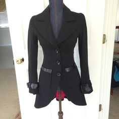 Black coat NWOT, in perfect condition, feel free to ask any questions and also check out my other listings. Everything that is not sold by the beginning of March will be taken to a consignment store! bebe Jackets & Coats
