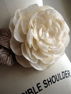 beautiful fabric flower!