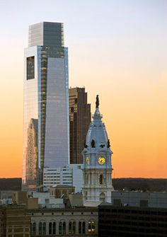 Comcast, so far the tallest building in Philadelphia.  There was once a gentleman's agreement that no building would ever rise taller than Billy Penn atop City Hall.  This ended with Mayor Goode's reign (1984-1992).