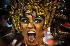 A performer dances during the Salgueiro performance at the Rio de Janeiro Carnival at Sambodromo to kickoff the festivities.