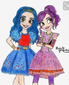 Mal and evie drawing from descendants descendants disney drawings, mal, evi Kawaii Disney, Disney Art, Best Friend Drawings, Bff Drawings, Kawaii Drawings, Disney Drawings, Dove Cameron, Bff Abbildungen, Evie Descendants