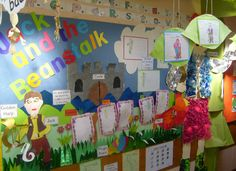A super Jack and the Beanstalk classroom display photo contribution. Great ideas for your classroom! Traditional Tales, Traditional Stories, Classroom Displays, Classroom Decor, Eyfs Jack And The Beanstalk, Knights And Castles Topic, Storybook Crafts, Christian Classroom, Reading Display