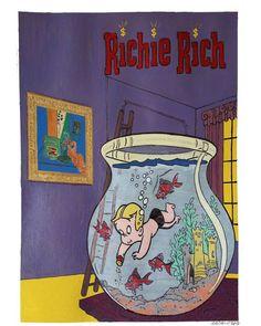 """""""Mi piace"""": 31, commenti: 3 - massimo j. monaco (@massimo.j.monaco.artist) su Instagram: """"RICHIE RICH (Les poissons rouges de Matisse series) 2017 cm 38×29 #acryliconpaper #pastel…"""""""
