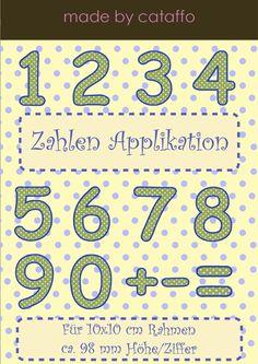 ❤ Ideal für Wimpelketten, Kleidung, Türschilder, Schultüten.... lasst Eurer Fantasie freien Lauf!     ❤ Folgende Buchstaben/Zeichen sind im Alphabe...