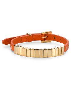 Michael Kors Darrington Single Wrap Saffiano Leather Bracelet