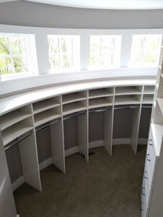 Closets For Life designs and builds walk in and other custom closets for your Minnesota home or office. Call Closets for Life, Tv In Bedroom, Master Bedroom, Tv Bookcase, Silo House, Small Floor Plans, Minnesota Home, Curved Walls, Custom Closets, Closet System