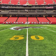 The @georgiadome is looking ready. Just a few more days! #RiseUp #Falcons