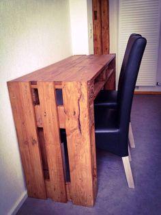 Pallet Computer Desk - 30 DIY Pallet Ideas For DIY Home Decor | Pallet Furniture DIY