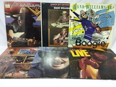 Hank Williams Jr. Lot of 6 Vinyl Records Fiveo Boogie Greatest Hits Live Father