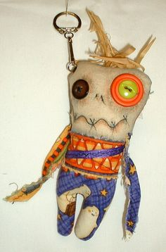 Etsy の Mini Monster Voodoo Doll Key Chain 12 by FromGramsHouse