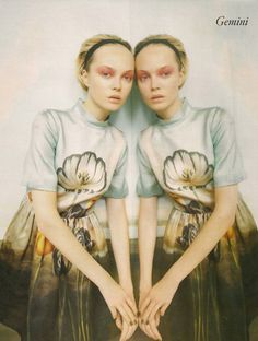 Gemini - photographed by Tim Gutt for Vogue UK, model Siri Tollerod, set designer and costumes - Shona Heath, stylist, Kate Phelan.