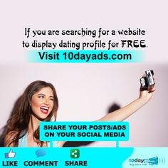 If you are searching for a website to display dating profile for FREE. Visit 10dayads.com #ListDatingSitesFree #FreeAdvertisingSites
