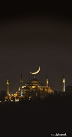 "Architecture - Places of Worship - ""The night view of Hagia Sophia"" (Istanbul, Turkey) Places To Travel, Places To See, Wonderful Places, Beautiful Places, Hagia Sophia Istanbul, Magic Places, Beautiful Mosques, Islamic Architecture, Place Of Worship"