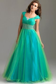 modest prom dresses with sleeves | Dreamy Modest Prom Dresses Cap Sleeve Ball Gown