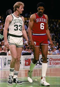 Larry Bird and Dr. J...the daisy dukes of the NBA in the 80's