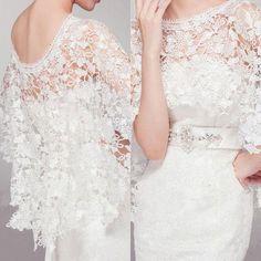 Hot White Or Ivory Bridal Wraps Lace Wedding Dresses Prom Bolero Coat Shrug Cape Shawl Flower Custom Made Jackets From Manweisi, $27.6 | Dhgate.Com