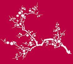 Japanese Blossom Stencil