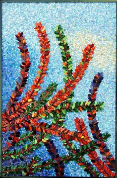 Cotoneaster | The Mosaic Art of Terry Nicholls Stained glass, smalti, glass gems