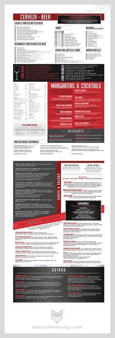 Branding and Logo Design by Dapper Fox Design - Restaurant Menu Design for Billy Blanco's in Park City, Utah    //   Website Design - Branding - Logo Design - Brand - Entrepreneur Blog and Resource