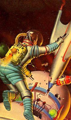 The Vault of Retro Sci-Fi — translucentmind:   Space Tug, 1954 // Robert Emil...
