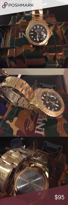 Invicta gold watch Invicta gold men's watch. Never worn. Invicta Accessories Watches