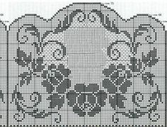 Could make a nice window hanging or combined with other things to make a table runner. Crochet Edging Patterns, Filet Crochet Charts, Crochet Lace Edging, Crochet Borders, Crochet Cross, Crochet Diagram, Crochet Home, Crochet Designs, Crochet Doilies