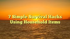 7 Simple Survival Hacks Using Household Items - http://www.facebook.com/721755137842192/posts/1603237509693946