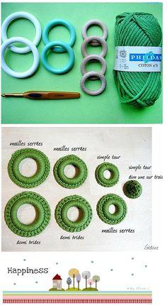 Arbol de Navidad con Anillas de Crochet - Patrones Crochet