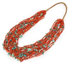 Navajo Coral and Turquoise Necklace, Four Corners Area | Sotheby's