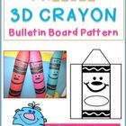 FREEBIE Welcome Back to School Bulletin Board with your brand new student's name on a 3D CRAYON display that POPS!  Directions and Pattern Included  Creati...
