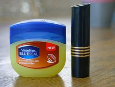 How to make your own tinted lip balm with vaseline and lipstick
