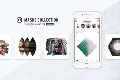 cool Instagram Masks Collection CreativeWork247 - Fonts, Graphics, Themes, ...