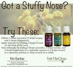 Essential Oil Help: for Stuffy Nose:
