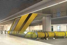 Escalator access is provided to the station platforms. Image courtesy of Crossrail. - Image - Railway Technology