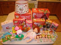 Vintage Strawberry Shortcake - Huge Lot of Dolls & Other Memorabilia - Great! #MixedLot
