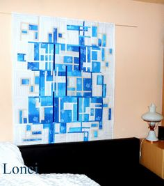 The blues... Art quilt aqua teal turquoise