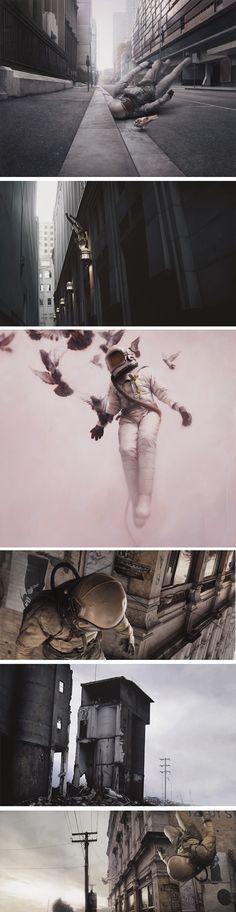 Jeremy Geddes #art #astronaut #gravity